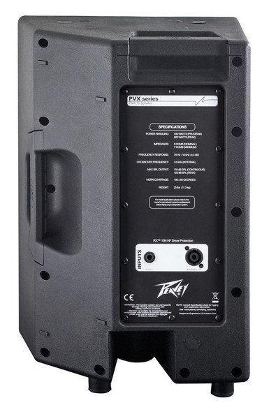 Peavey PVX Series Passive Speakers - PVX 10/12/15 - Rear view