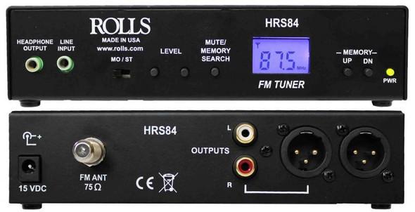 Rolls HRS84 Half-Rack FM Digital tuner with XLR outputs