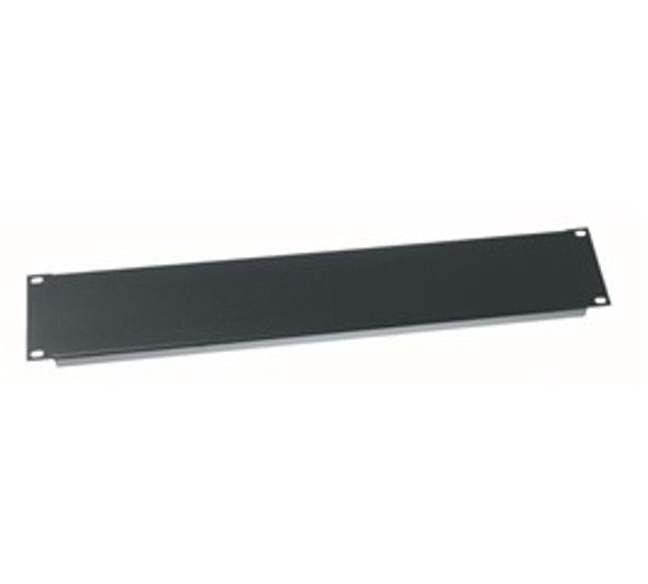 "Rack Panel - 2 Space - 19"" - Flat Black"