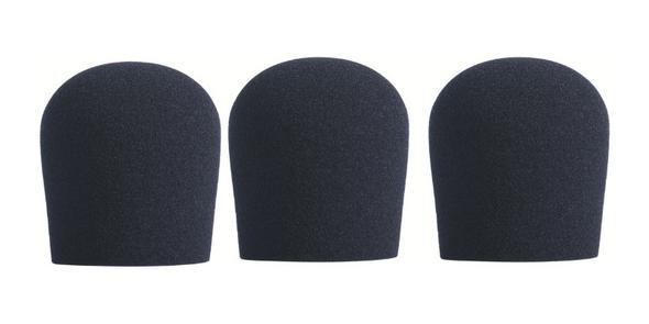 BLACK SupremeFit™ Handheld Microphone Windscreen - 3PAK
