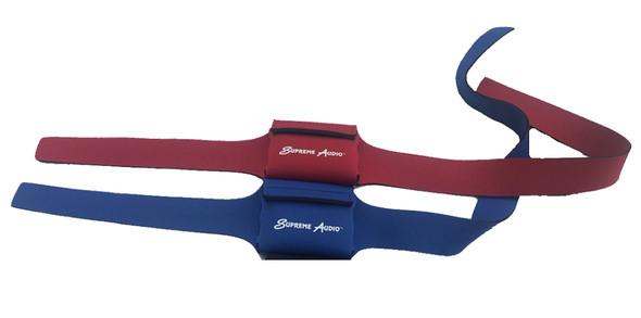 SupremePak™ Neoprene Belts for Wireless Mics. Now in BLUE & RED!