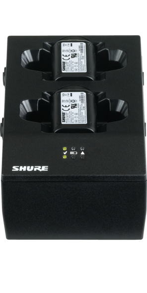 Shure SBC200-US DUAL Charging Dock for 2 Lithium-ion SB902 Batteries or 2 GLXD1 Beltpacks
