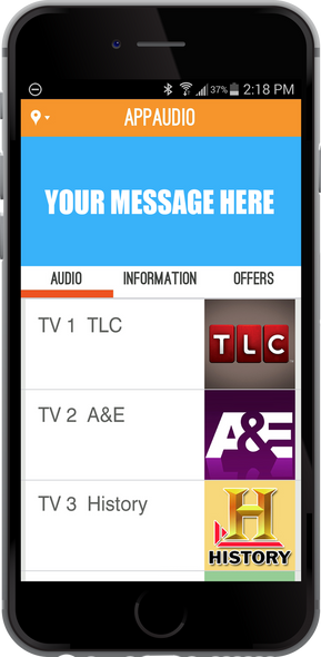MYE AppAudio™ is FREE for Your  Members to Enjoy Club TV Audio on Apple and Android Devices
