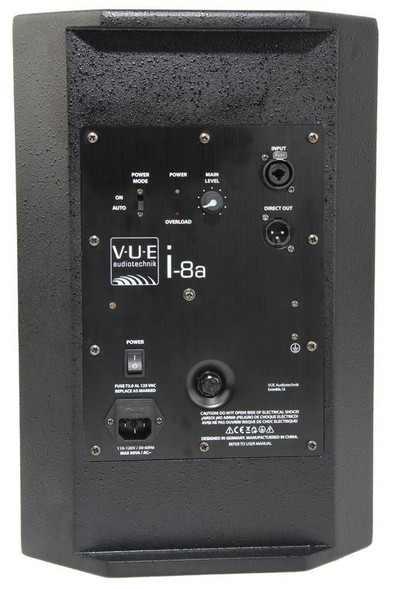 VUE Audiotechnik i-8a Foreground Powered Speaker System - View of Power Amplifier