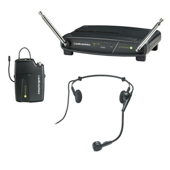 Audio-Technica SYSTEM 9 Budget 4-Channel VHF System with  ATW-T901 Beltpack Transmitter & PRO8HECW Headset - ATSYSTEM9H