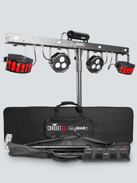 CHAUVET DJ GigBAR 2 Pack-n-Go 4-in-1 Lighting System Wash & Strobe Lights