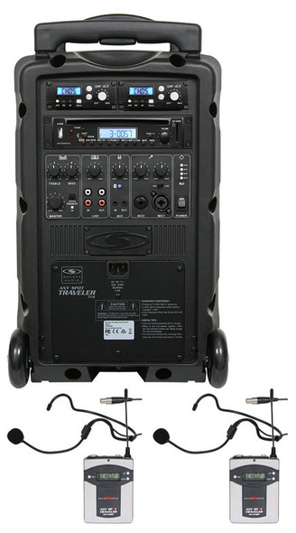 Galaxy TV8-C011S0S0K9 - Basic System + CD Player + 2 Fitness Headset Wireless Microphone Systems: