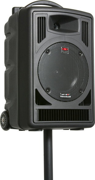 Galaxy TV8 Battery-Powered Portable Sound System - Stand-Mounted