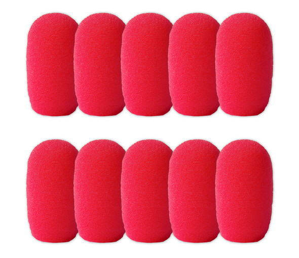SupremeFit™ Headset Mic NEON PINK Foam Windscreens - SMALL - 10-PAK