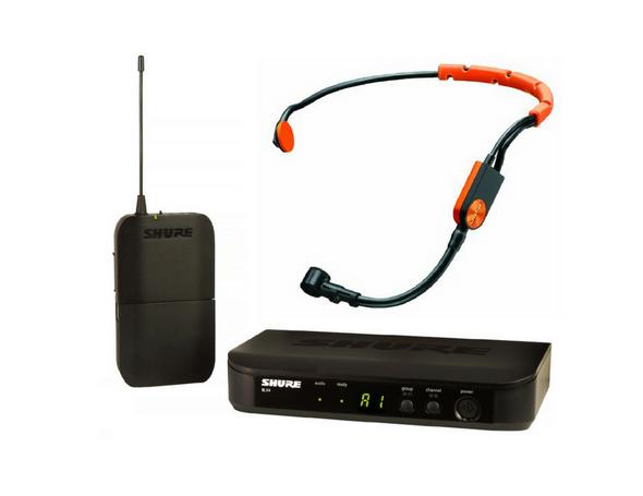 Shure BLX UHF System(BLX4 Receiver + BLX1 Beltpack) +  Shure SM-31FH