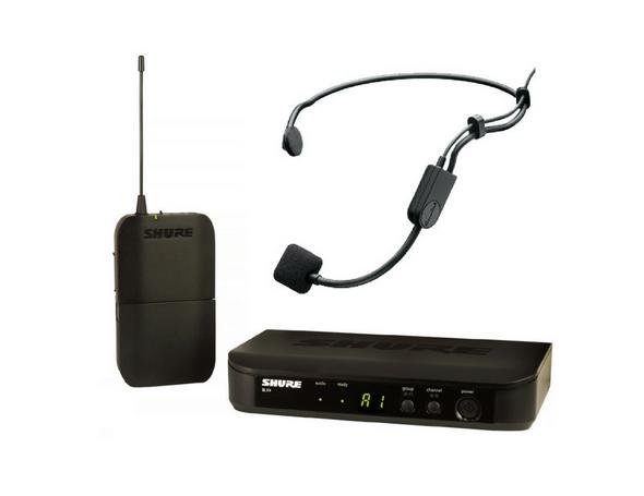 Shure BLX UHF System(BLX4 Receiver + BLX1 Beltpack) + Shure PG-31 Headset - $299.00