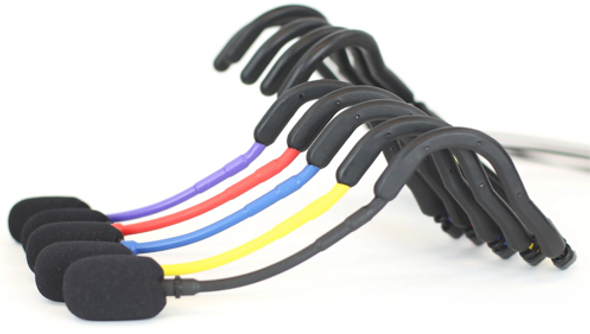 E-mic Headset Microphone..Now in 5 colors! Black, Blue, Red, Yellow & Purple