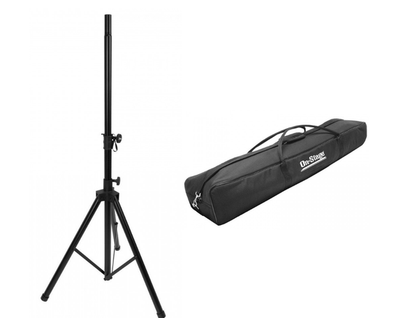 On-Stage Heavy-Duty Tripod Speaker Stand (1) with Nylon Carry Bag - STAND1-BAG