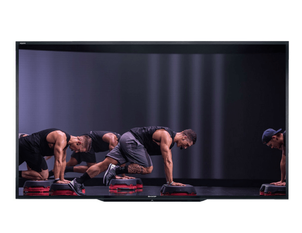 """SHARP PN-LE901 90"""" Class UHD Ultra High Definition COMMERCIAL LCD TV featuring Les Mills GRIT"""