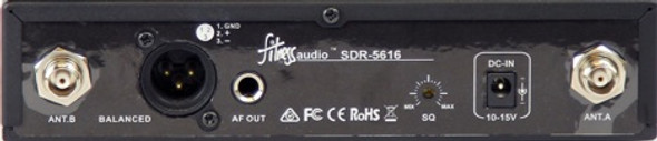 Fitness Audio SDR-5716 U-Series 16-Channel Receiver - Rear View