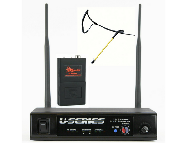 Fitness Audio UHF System with Aeromic Headset