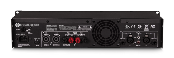 Crown XLS-1502 2-Channel, 300W @ Ohms Power Amplifier - Rear View