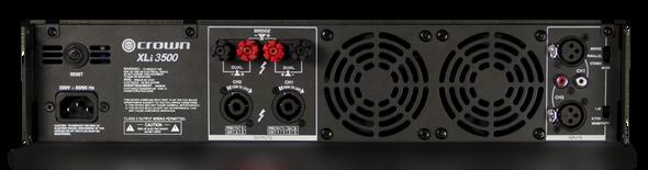 Crown Audio XLi 3500 Power Amplifier - 3000W @ 8 Ohms - Rear View