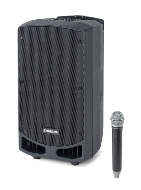 """Samson Expedition XP310w 300-Watt 10"""" Portable Powered PA with Wireless Handheld Microphone, Rechargeable Batteries and Bluetooth®"""