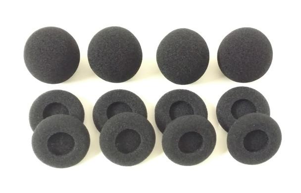 Audio-Technica PRO8 4-PAK Black 4 Round MIC Foams + 4 Pairs of Temple Pads