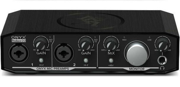 Mackie Onyx Producer 2-2 2-in x 2-out USB Audio Interface with Midi