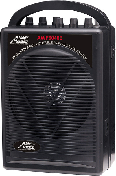Audio2000 AWP6040B-M Portable Personal PA System - Front View