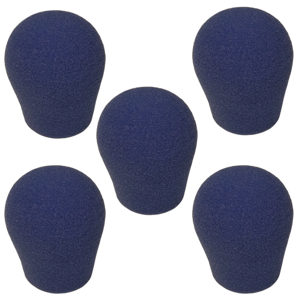 "Specialty Microphone Windscreens 1 3/8"" ID by SupremeFit™ 5-PAK BLUE CLEARANCE"