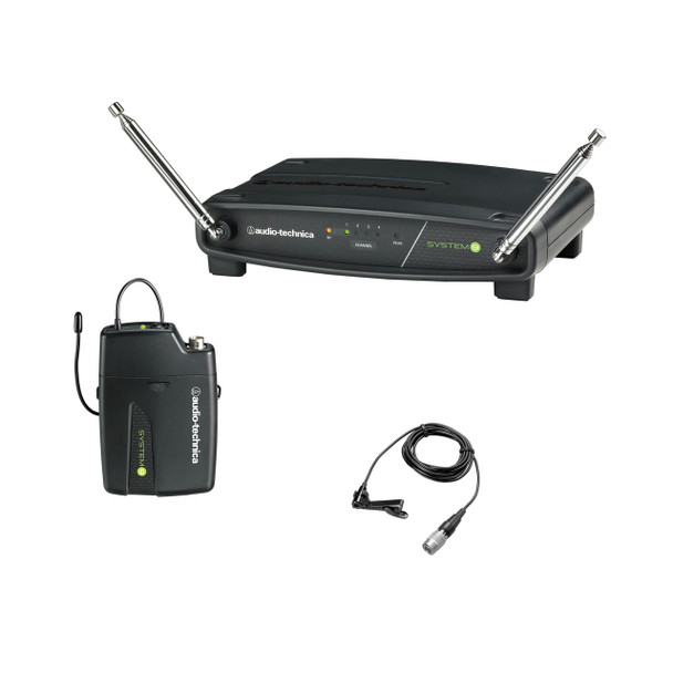 Audio-Technica SYSTEM 9 Budget 4-Channel VHF System with  ATW-T901 Beltpack Transmitter & Omnidirectional Lavalier Mic - ATSYSTEM9L
