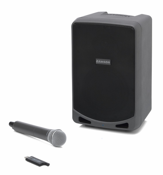Samson  Expedition XP106W - Rechargeable Portable PA with Bluetooth and XPD1 Wireless Handheld Microphone