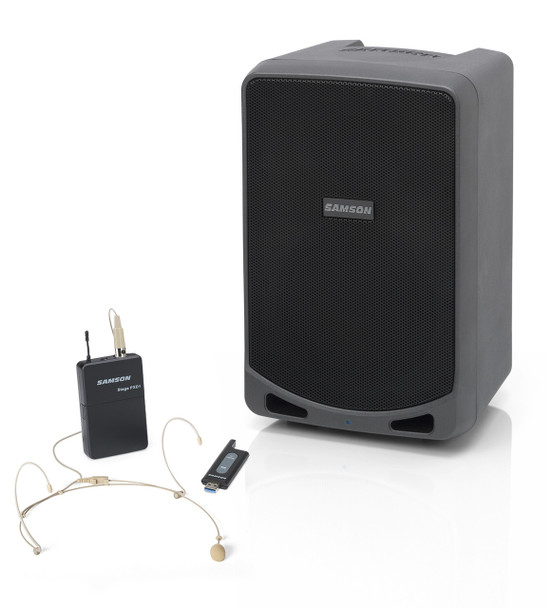 Samson  Expedition XP106WDE - Rechargeable Portable PA with Bluetooth and XPD1-DE5 Wireless Headset Microphone