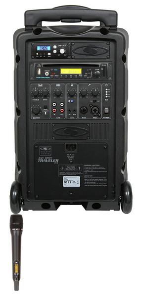 Galaxy Audio GAL08HH1CD TV8 AC/Battery-Powered 120 Watt Portable Sound System - Basic System + CD + 1 Handheld System