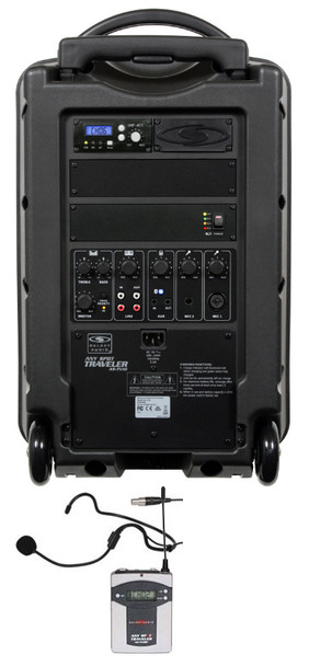 Galaxy Audio GAL10HS1 TV10 AC/Battery-Powered 150 Watt Portable Sound System - Basic System + 1 Wireless Receiver + 1 Fitness Headset Wireless Microphone System
