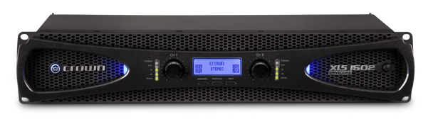Crown XLS-1502 2-Channel, 300W @ Ohms Power Amplifier - Front View