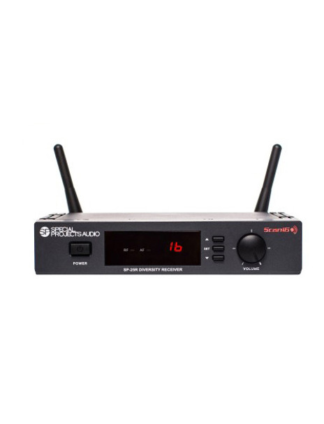 Special Projects EVO True Wireless Fitness System Receiver SP-25R - 16-channel SP-25R Scan16 receiver (only)