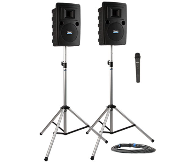 Anchor Audio LIB-DP1- Liberty DELUXE Package 1 - Liberty Deluxe Package 1 includes LIB2-U2, LIB2-COMP, SC-50NL, 2 SS-550, and choice of 1 wireless handheld mic or headband and lapel mic with beltpack