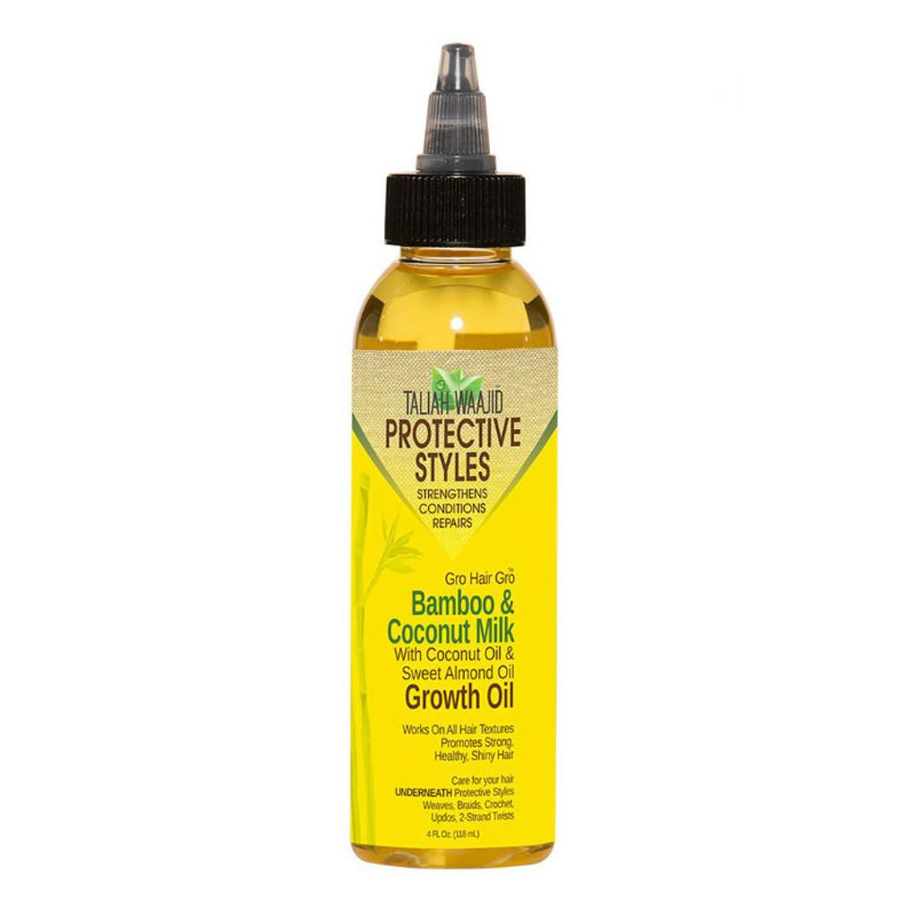 Taliah Waajid Protective Styles Gro Hair Gro Bamboo And Coconut Milk Growth Oil (4 oz.)