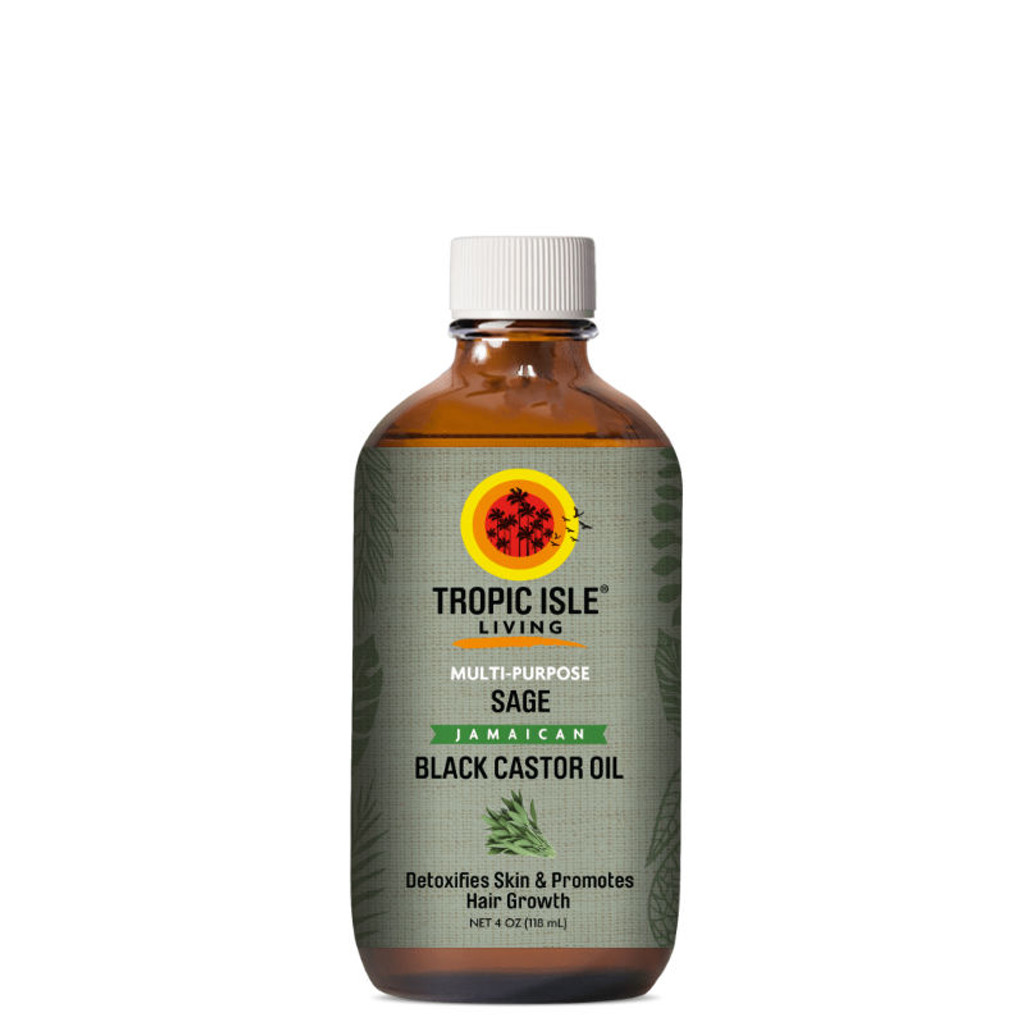 Tropic Isle Living Sage Jamaican Black Castor Oil (4 oz.)