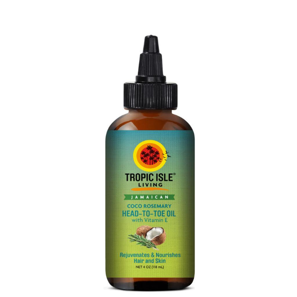 Tropic Isle Living Jamaican Coco Rosemary Head-to-Toe Oil with Vitamin E (4 oz.)
