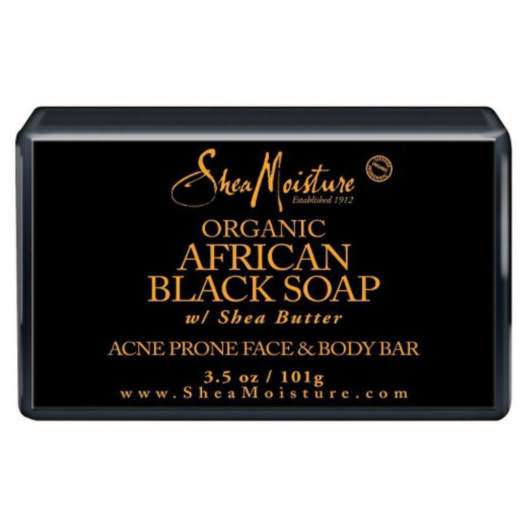 SheaMoisture Organic African Black Soap Acne Prone Face & Body Bar (3.5 oz.)