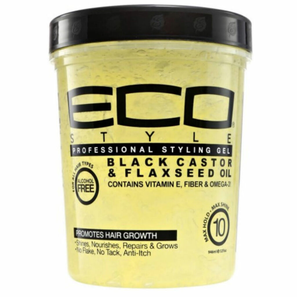 Ecoco Eco Style Professional Styling Gel Black Castor & Flaxseed Oil (32 oz.)