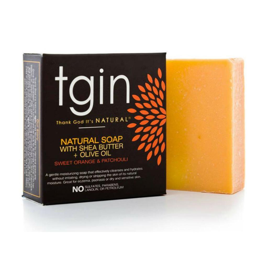 tgin Olive Oil Soap - Sweet Orange Patchouli (4 oz. Bar)