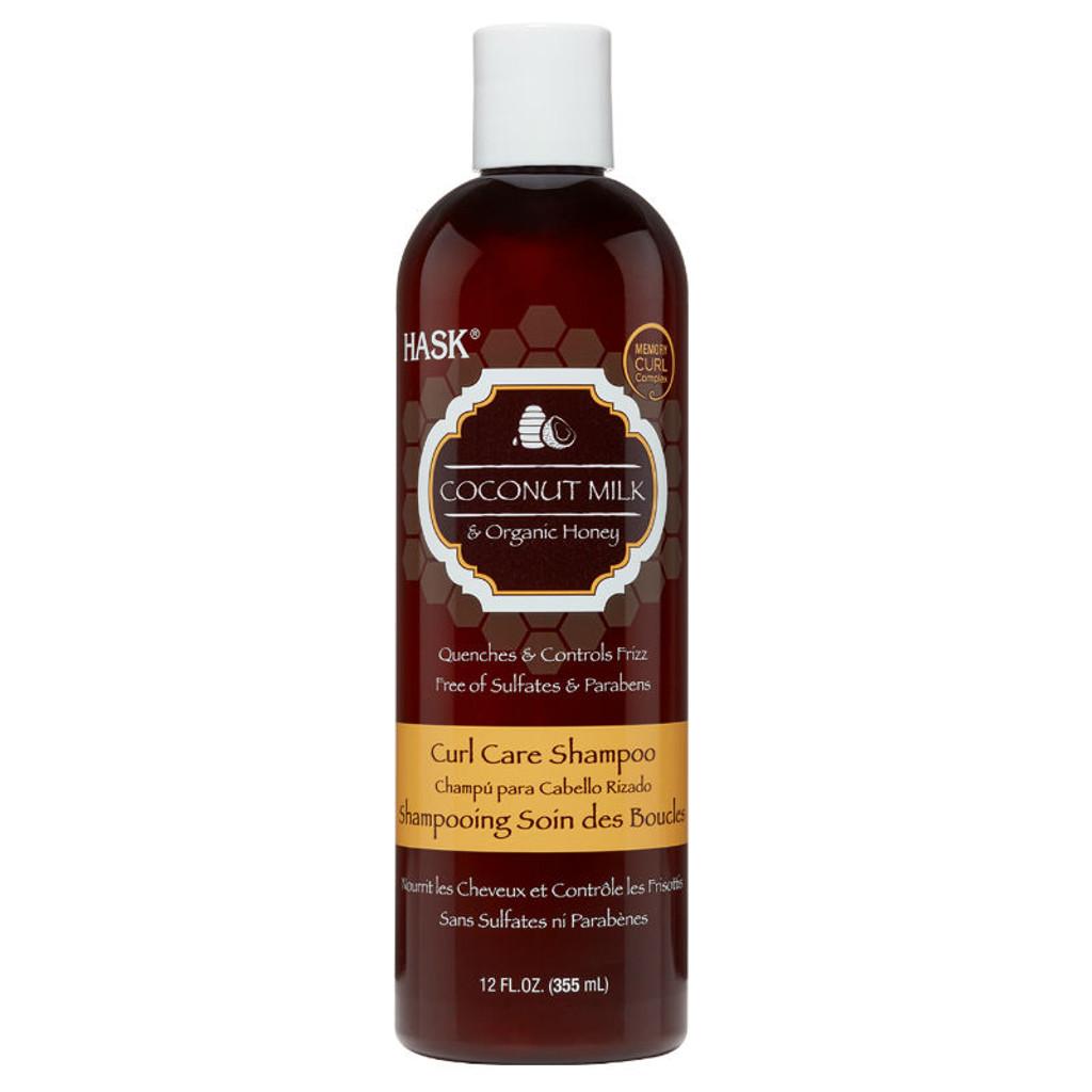 HASK Coconut Milk & Organic Honey Curl Care Shampoo (12 oz.)