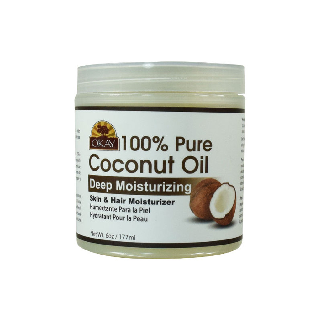 OKAY Pure Naturals Pure Coconut Oil Deep Moisturizing Skin and Hair Moisturizer (6 oz.)