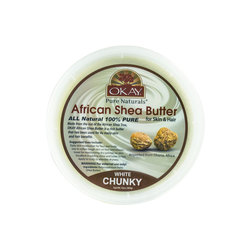 OKAY Pure Naturals White Chunky African Shea Butter (10 oz.)