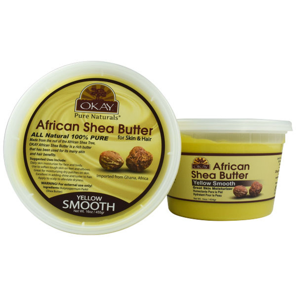 OKAY Pure Naturals Yellow Smooth African Shea Butter (16 oz.)