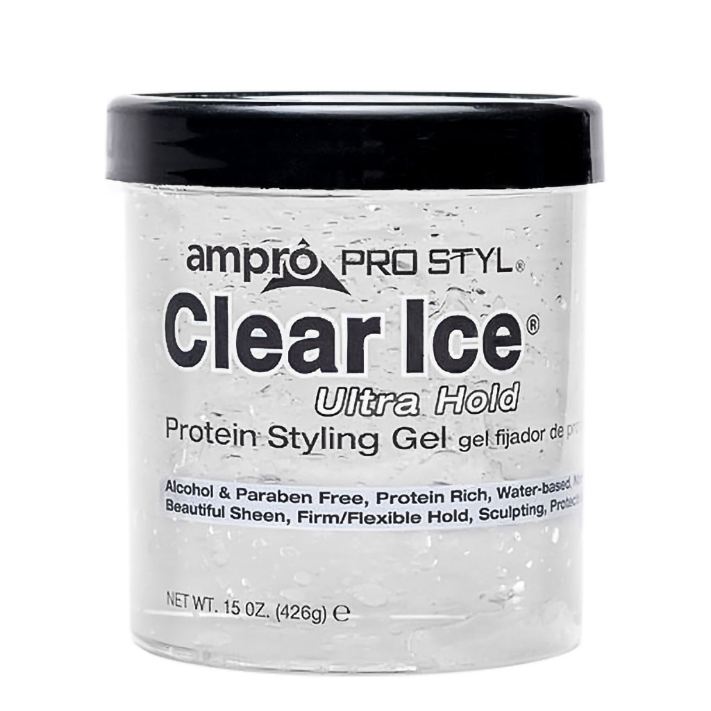 Ampro Pro Styl Clear Ice Ultra Hold Protein Styling Gel 15 Oz Naturallycurly