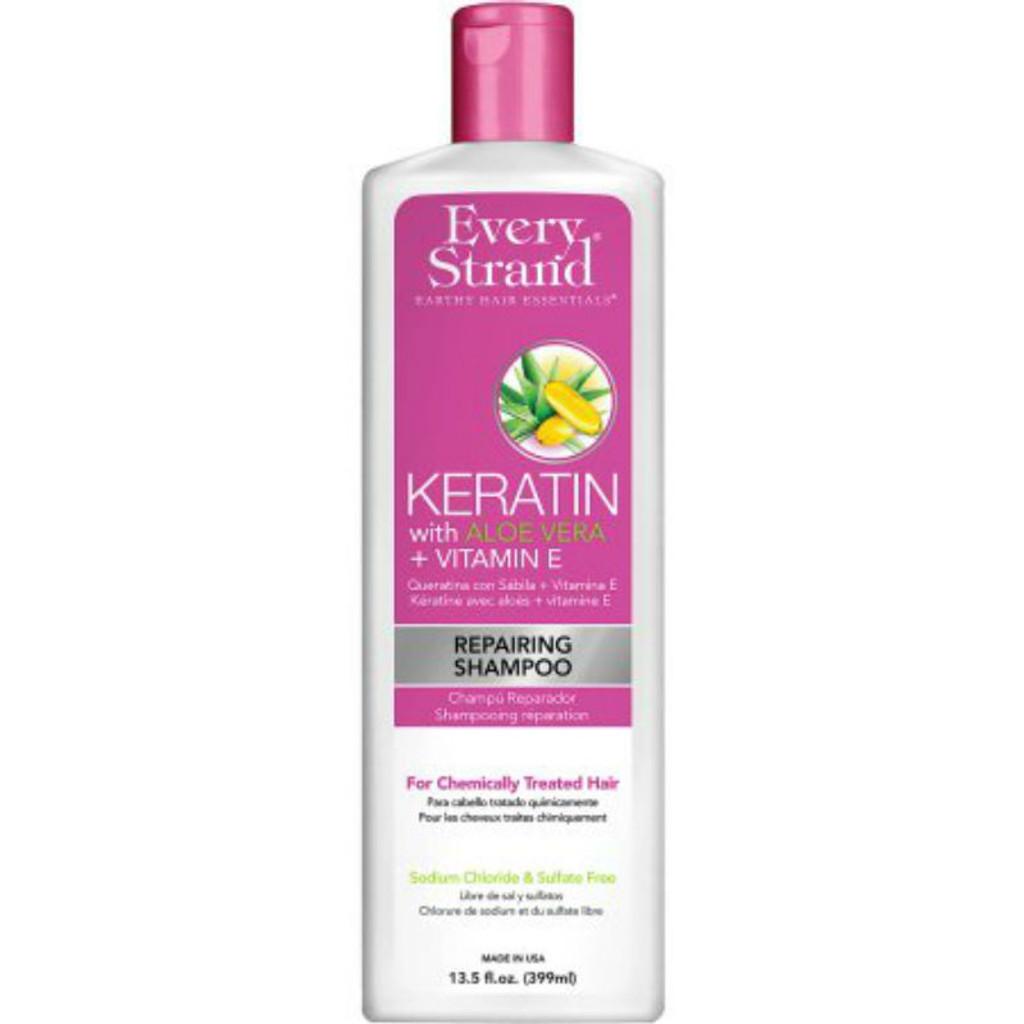 Every Strand Keratin with Aloe Vera + Vitamin E Repairing Shampoo (13.5 oz.)