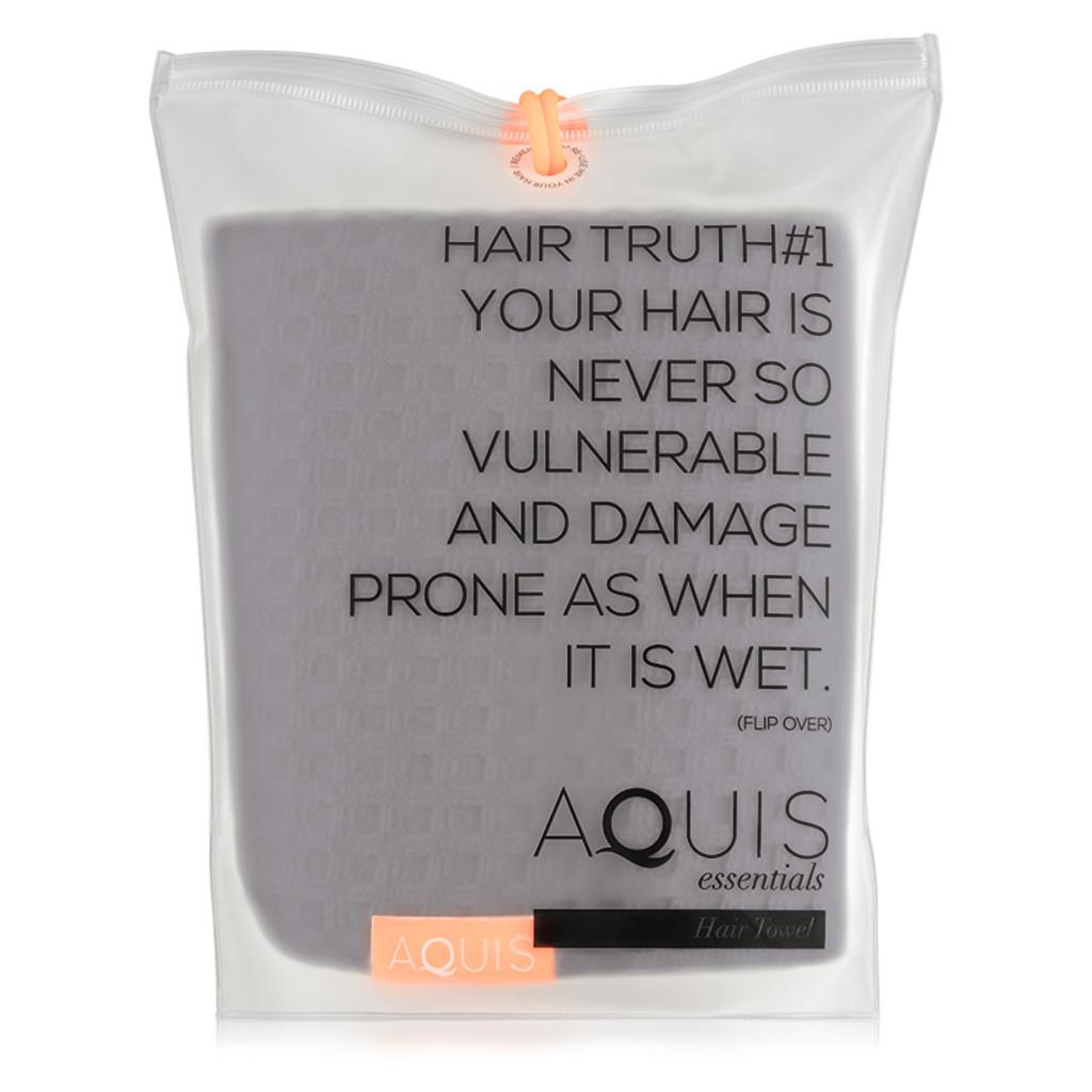 AQUIS Hair Towel Waffle Luxe - Moody Grey