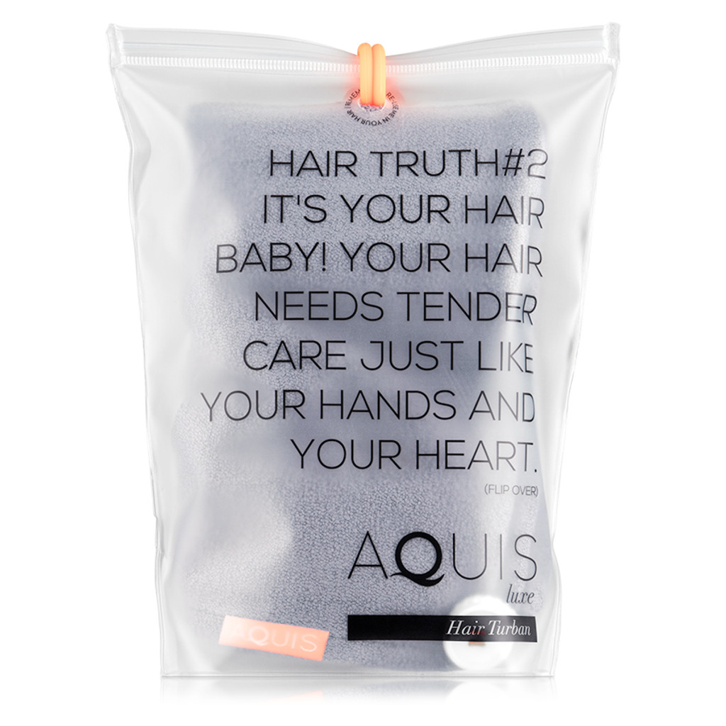 AQUIS Hair Turban Lisse Luxe - Cloudy Berry