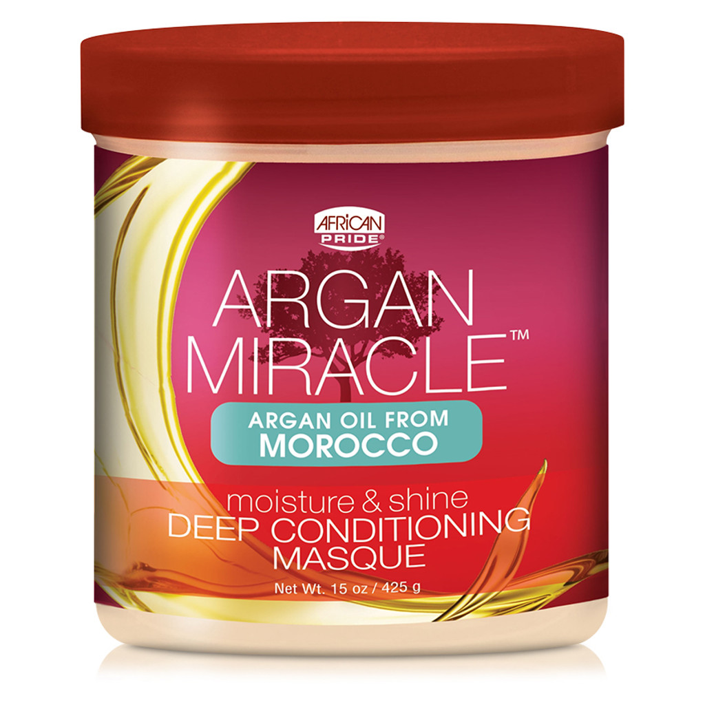 African Pride Argan Miracle Moisture & Shine Deep Conditioning Masque (15 oz.)